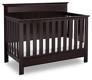 Delta Children Serta Fall River 4-in-1 Convertible Crib, Dark Chocolate, large