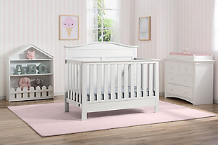Delta Children Serta Barrett 4-in-1 Convertible Crib, White, rollover