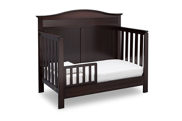 Delta Children Serta Barrett 4-in-1 Convertible Crib, Dark Chocolate, large