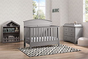 Delta Children Serta Ashland 4-in-1 Convertible Crib, Gray, rollover