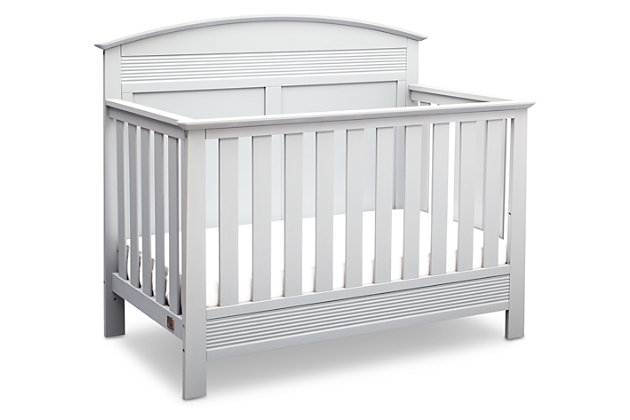 Delta Children Serta Ashland 4-in-1 Convertible Crib, White, large