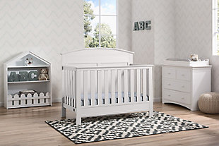 Delta Children Serta Ashland 4-in-1 Convertible Crib, White, rollover