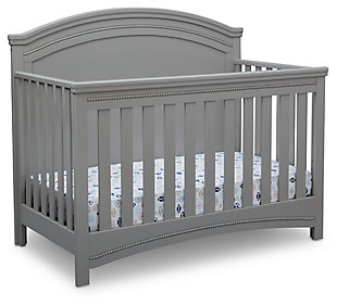 Delta Children Simmons Kids Emma Convertible Crib N More, Gray, large