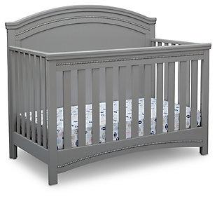 Delta Children Simmons Kids Emma Convertible Crib N More, Gray, large