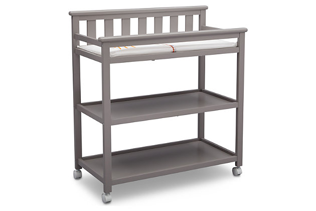Delta Children Flat Top Changing Table with Wheels, , large