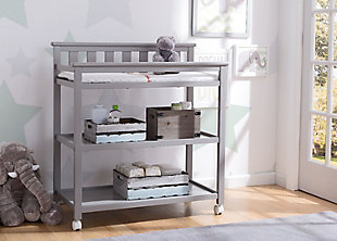 Delta Children Flat Top Changing Table with Wheels, , rollover