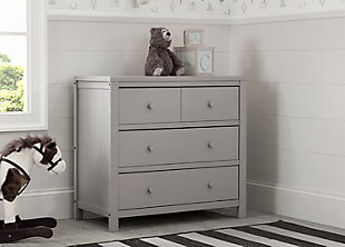 Delta Children Cambridge 3 Drawer Dresser, Rustic Haze, large