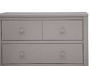 Delta Children 3 Drawer Dresser, Gray, large