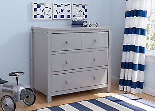 Delta Children 3 Drawer Dresser, Gray, rollover