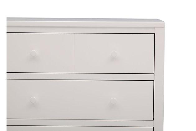 Delta Children 3 Drawer Dresser, White, large