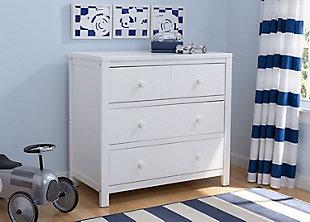 Delta Children 3 Drawer Dresser, White, rollover