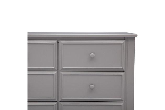 Delta Children 6 Drawer Dresser, Gray, large