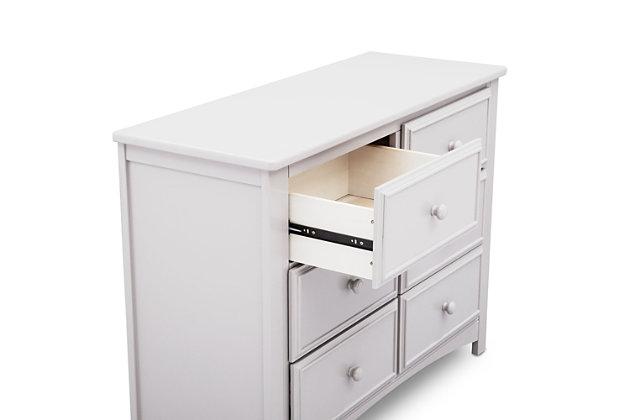 Delta Children 6 Drawer Dresser, White, large
