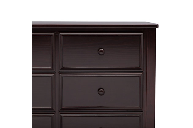 Delta Children 6 Drawer Dresser, Dark Chocolate, large