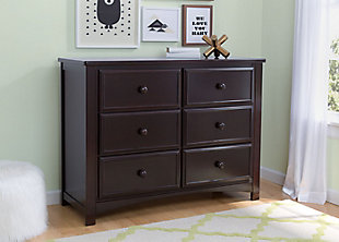 Delta Children 6 Drawer Dresser, Dark Chocolate, rollover