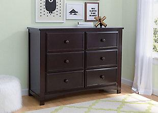 Delta Children 6 Drawer Dresser, Dark Chocolate, rollover