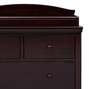 Delta Children Simmons Kids Emma 4 Drawer Dresser with Changing Top, Black/Espresso, large