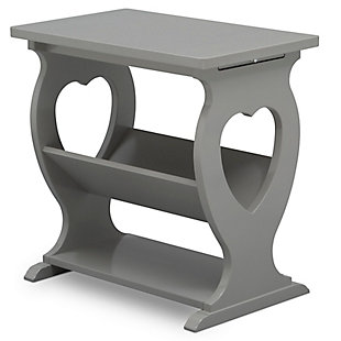 Delta Children Canton Nursery Side Table, Gray, large