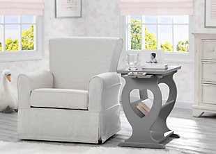 Delta Children Canton Nursery Side Table, Gray, rollover