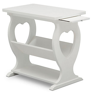 Delta Children Canton Nursery Side Table, White, large