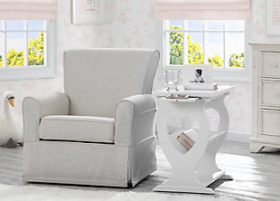 Delta Children Canton Nursery Side Table, White, rollover