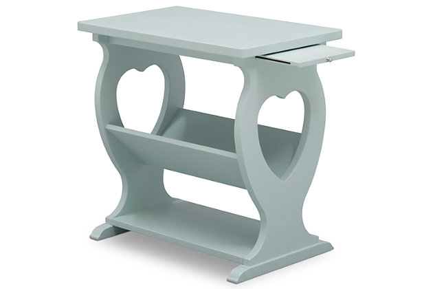 Delta Children Canton Nursery Side Table, Misty Blue, large