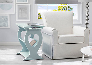 Delta Children Canton Nursery Side Table, Misty Blue, rollover