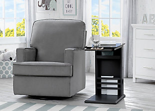 Delta Children Nolan Nursery Side Table, Ebony, rollover