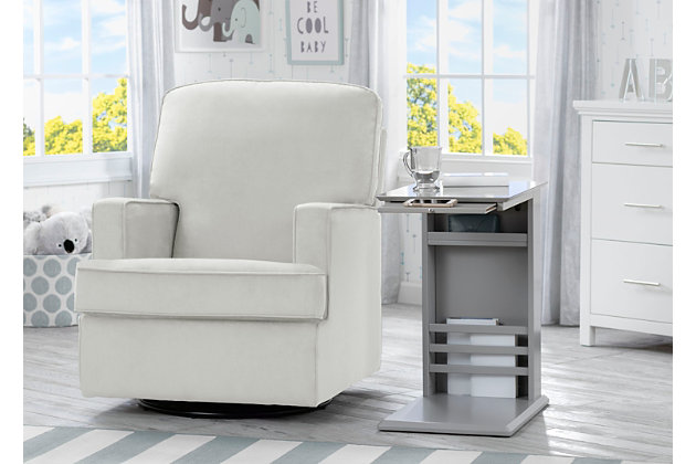 Delta Children Nolan Nursery Side Table, Gray, large