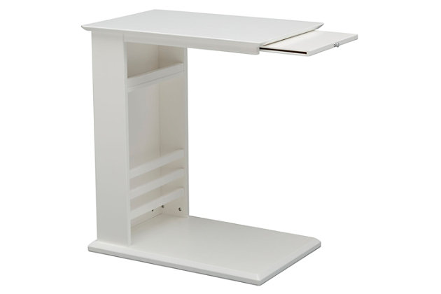 Delta Children Nolan Nursery Side Table, White, large