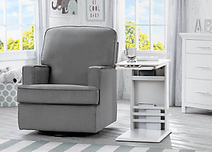 Delta Children Nolan Nursery Side Table, White, rollover