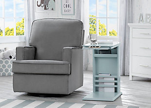 Delta Children Nolan Nursery Side Table, Misty Blue, rollover