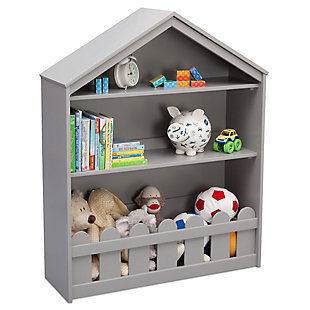 Delta Children Serta Happy Home Storage Bookcase, Gray, rollover