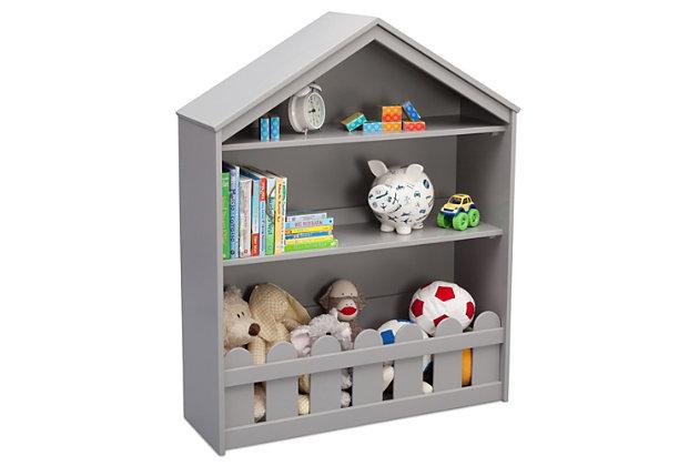Delta Children Serta Happy Home Storage Bookcase, Gray, large