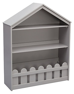 Delta Children Serta Happy Home Storage Bookcase, Gray, large