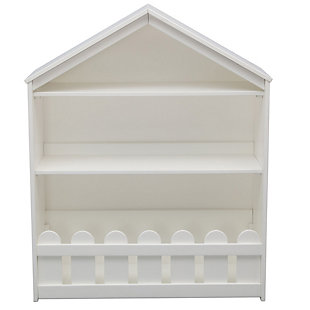 Delta Children Serta Happy Home Storage Bookcase, White, rollover