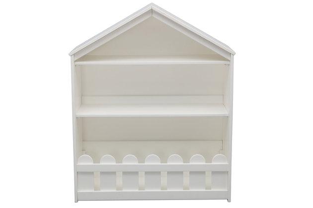 Delta Children Serta Happy Home Storage Bookcase, White, large