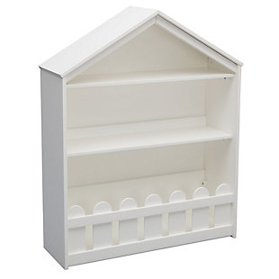 Delta Children Serta Happy Home Storage Bookcase, White, large