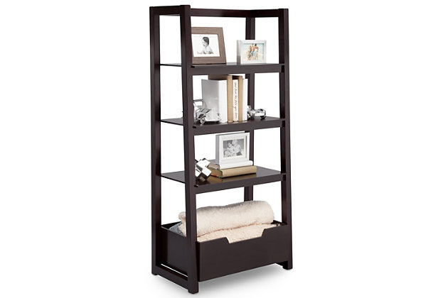 Delta Children Gateway Ladder Shelf, Dark Chocolate, large