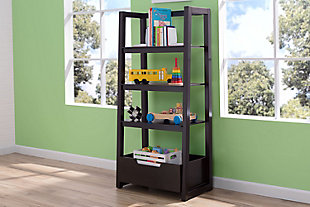 Delta Children Gateway Ladder Shelf, Dark Chocolate, rollover