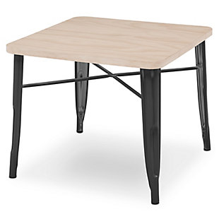 Delta Children Bistro Kids Play Table, Black/Driftwood, large