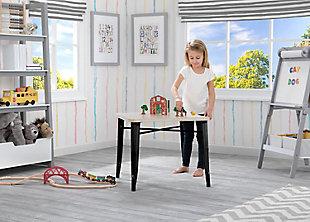 Delta Children Bistro Kids Play Table, Black/Driftwood, large