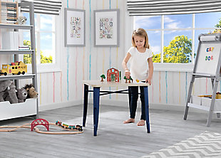 Delta Children Bistro Kids Play Table, Navy/Driftwood, rollover