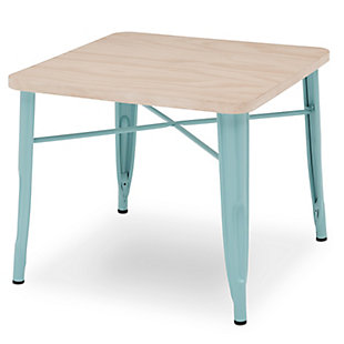 Delta Children Bistro Kids Play Table, Aqua/Driftwood, large