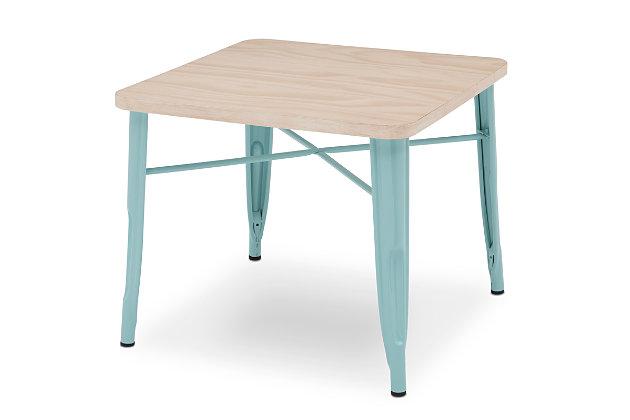 Delta Children Bistro Kids Play Table, Aqua/Driftwood, large