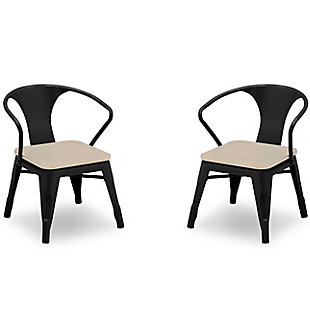 Delta Children Bistro 2-Piece Chair Set, Black/Driftwood, large