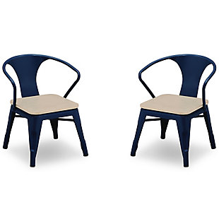Delta Children Bistro 2-Piece Chair Set, Navy/Driftwood, large