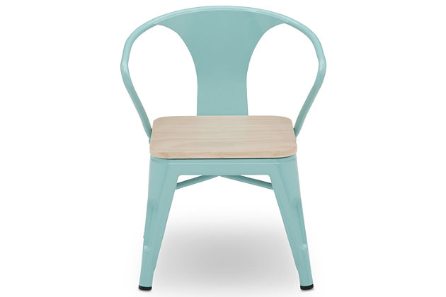 Delta Children Bistro 2-Piece Chair Set, Aqua/Driftwood, large