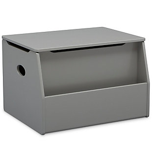 Delta Children Nolan Toy Box, Gray, large