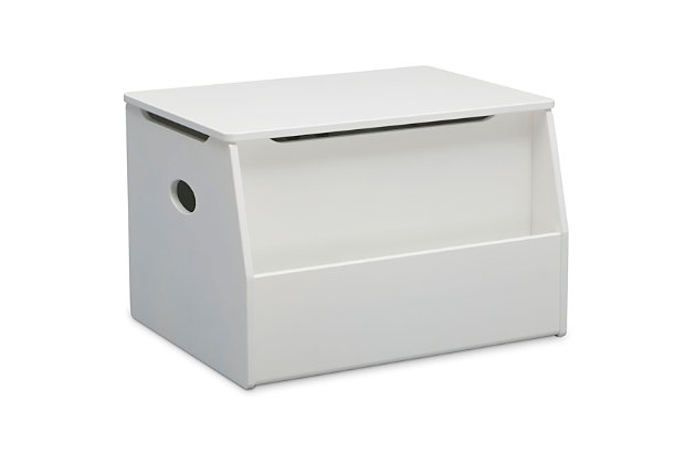 Delta Children Nolan Toy Box, White, large